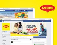 Diseño de campañas en Facebook para Maggi® Colombia.