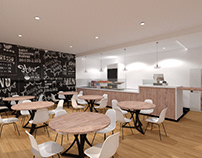 Interior design - Coffee and food shop