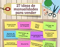 Infografía: 27 ideas de manualidades para vender