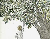 Niño y árbol