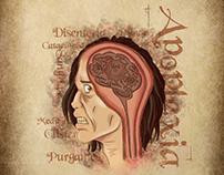 Ilustração do cartaz da peça O Doente Imaginário - 2016