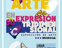 Diseño gráfico para exposición de arte