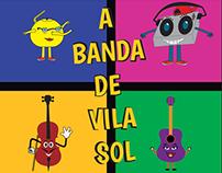 Livro infantil A banda de Vila Sol