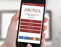 Aplicativo Aroma Restaurante
