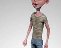 Modelado 3d. Personaje propio. (niño - Child)