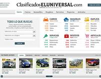 Clasificados ElUniversal | Diseño Web