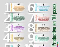 Infografía: Sea + Productivo en 10 pasos