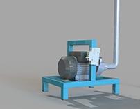 Sistema de bomba de agua movible , practico y seguro.