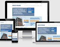 Grupo Perame - Site feito em Wordpress.