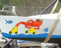 Ilustración para plotting de velero.