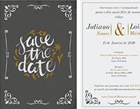 Arte para Convite Casamento