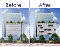 Before/After - Architectural Photoshop editing