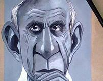 Pablo Picasso Caricature.