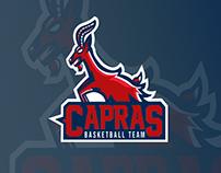 Capras The Basketball Team - Mascot Logo