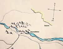 """Ilustracion """"mapa del tesoro""""."""