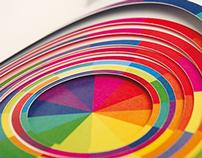 """Libro de artista """"Música y color: La escala cromática"""""""