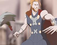 Thor animate scene