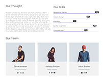 Team Members Template - Zenith WordPress Theme