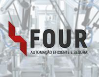 Redesign de Logotipo: Four Automação Eficiente e Segura