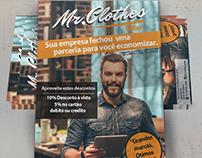 Flyer de parceria loja Mr.Clothes