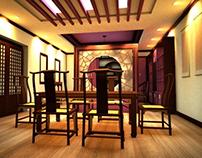 Render Interior, iluminación artificial.