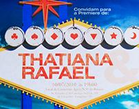 Convite de casamento - Thaty & Rafa