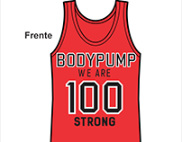 T-Shirt Body Pump 100 - Professores Body Systems Santos