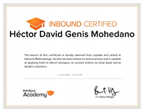 Certificación Hubspot Inbound Marketing