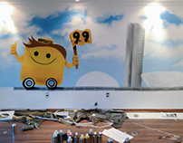 Interior Painting para a empresa digital 99Taxis