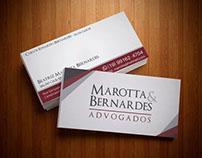 Cartão de Visita - Marotta & Bernardes Advogados.