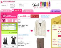 Diseño gráfico para website Fash Match (2005-2006)