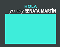 Hola, yo soy Renata Martín - animación