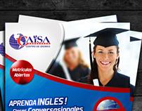 Flyer para Centro de Inglés
