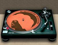 Feltro para Toca Disco Lopez Creative - Don't Touch