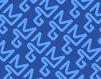 Personal logo type pattern monogram.