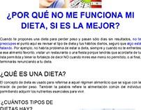 Artículo para FaceBook. Tema: Dieta