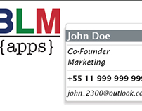 BLM logo and visit cards