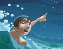 Ilustracion Niño en el mar (Copia)