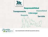 Campaña interna sobre convivencia laboral Metroplús
