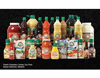 Diseño de Etiquetas para envases y Bolsas Doypack