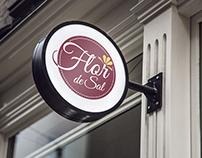 Logo e aplicações - Restaurante Flor de Sal