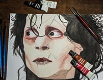 """Cuadro """"Joven manos de tijera"""" - serie Tim Burton"""