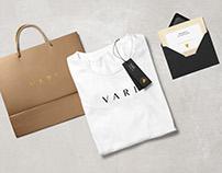 Brand Corporate Identity: VARI, fashion brand