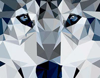 Polygon Art - Wolf