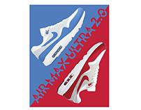 Releitura propaganda Nike Air Max Ultra 2.0
