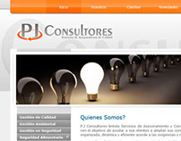 Disñeo y desarrollo Web de PJ Consultores
