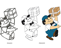 Re-ilustración de Personaje