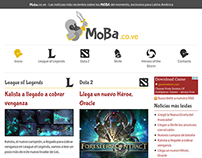 Own Website about MOBA (pvp games).