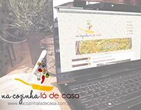 Na Cozinha lá de Casa - Identidade Visual e Layout Blog