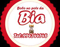 Logotipo e rotulo para bolo de pote